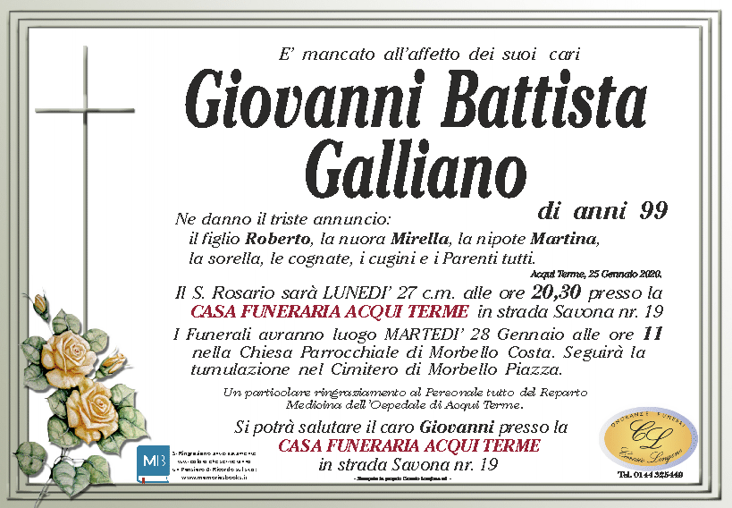 Giovanni Battista Galliano Anni90 Morbello